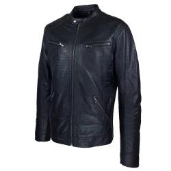 blouson homme cuir style motard baya black vue de tiers