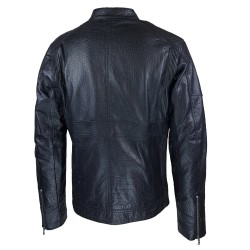 blouson homme cuir style motard baya black vue de dos