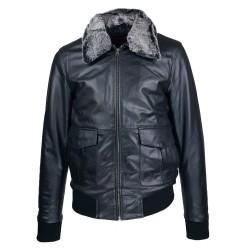 Blouson homme cuir Fly jacket vue de face Spitfire
