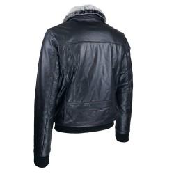 Blouson homme cuir Fly jacket vue de 3 tiers Spitfire .jpg