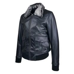 Blouson homme cuir Fly jacket vue de tiers Spitfire .jpg