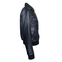 Blouson homme cuir Fly jacket vue de coté Spitfire .jpg