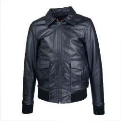 Blouson homme cuir Fly jacket vue de face sans Spitfire