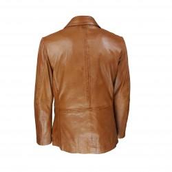 veste blazer homme cuir genevo vue de dos