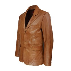 veste blazer homme cuir genevo vue de profil