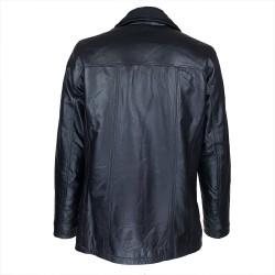 veste homme cuir cookes quatre boutons vue de dos