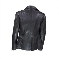 veste femme cuir a zip paro vue de dos ouvert