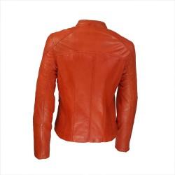 veste femme cuir quatre boutons bardo image de dos