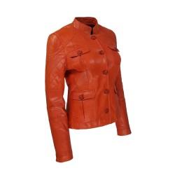 veste femme cuir quatre boutons bardo image de tiers