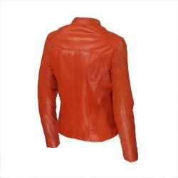 veste femme cuir quatre boutons bardo image de trois tiers