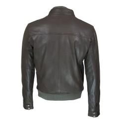 blouson homme en cuir  Style motard alabama vue de dos