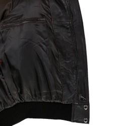 blouson homme cuir modele aviateur fly jacket toledo a col amovible vue interieur
