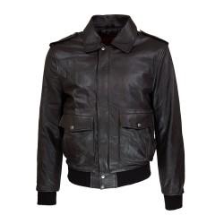 blouson homme cuir modele aviateur fly jacket toledo vue de face