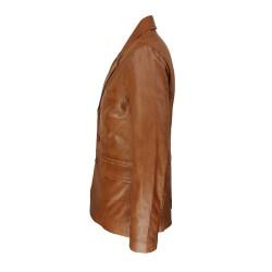 veste blazer homme cuir genevo vue de cote
