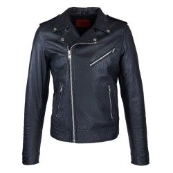 perfecto homme cuir south black vue de face