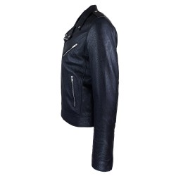 perfecto homme cuir south black vue de profil