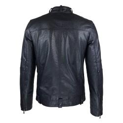 blouson homme cuir style motard tendi vue de dos