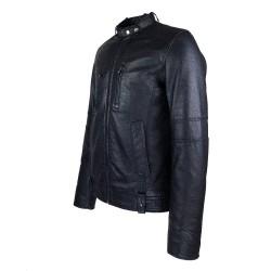 blouson homme cuir style motard tendi vue de profil