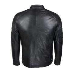 blouson homme cuir style motard gola black vue de dos