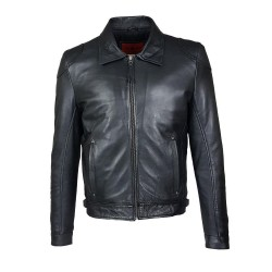 black gergo leather men's...