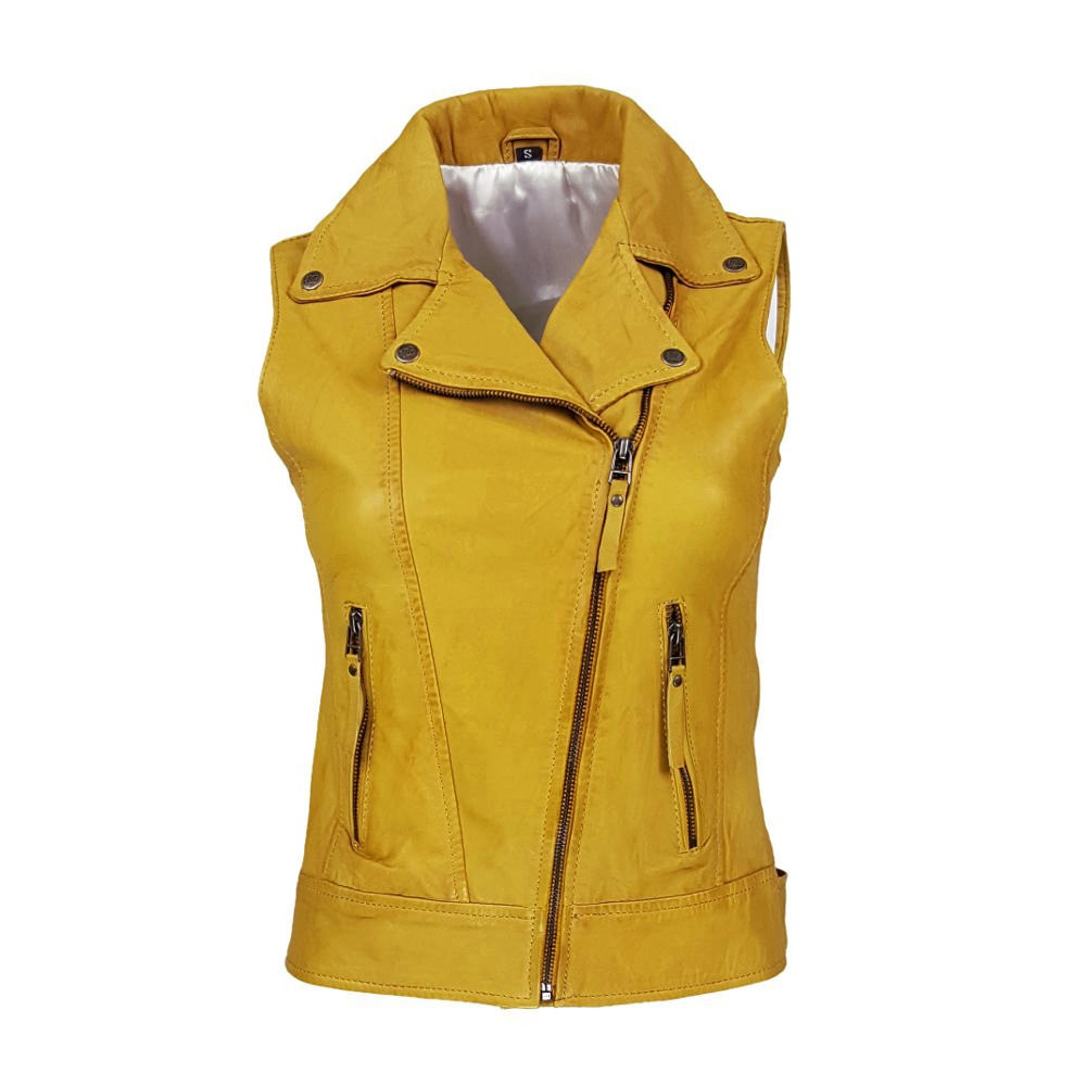 outlet store sale top brands popular brand gilet jaune femme cuir