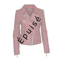 perfecto femme cuir rouge