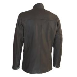 veste cuir homme de combat marron vue de dos