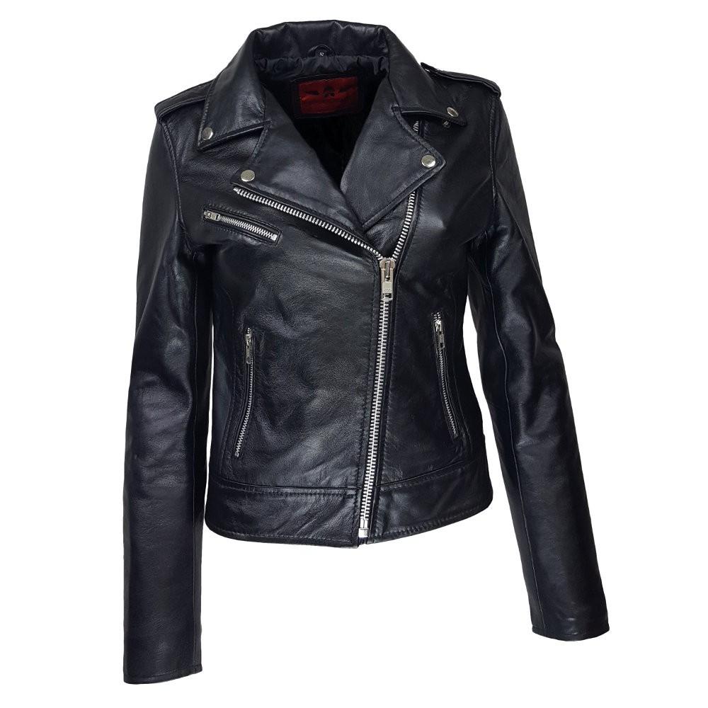 les ventes chaudes 7c265 993a1 perfecto noir femme cuir