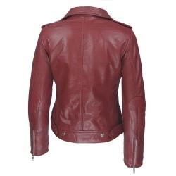 produits de qualité en ligne différents types de perfecto rouge femme cuir