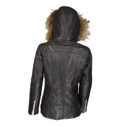 veste femme boston brown vue de dos avec capuche