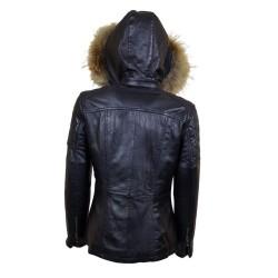 veste femme   boston black vue de dos avec capuche