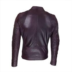 blouson homme cuir style motard mega vue de dos