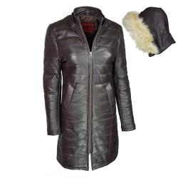 manteau-cuir-femme-maron-face-avec-capuche-detachee