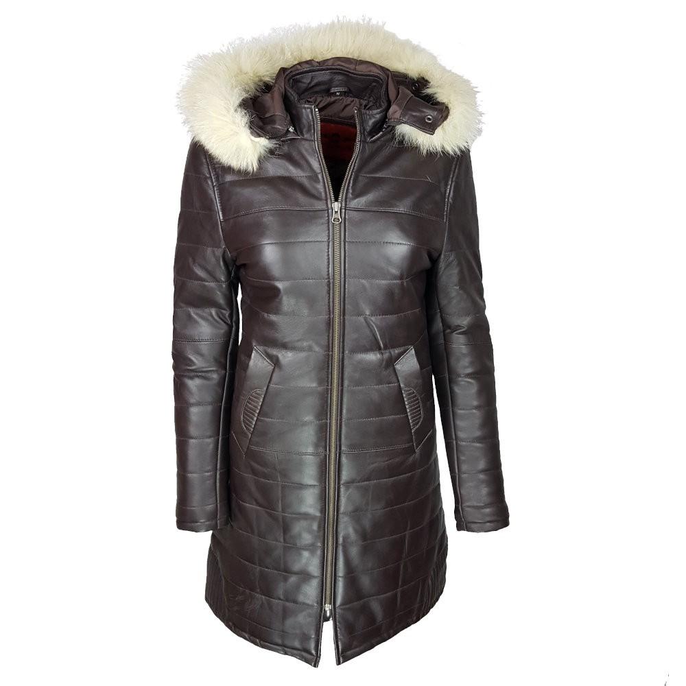 manteau-cuir-femme-maron-face-capuche