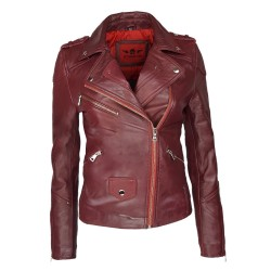 perfecto woman leather red...