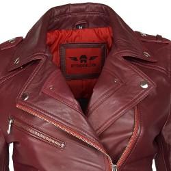 perfecto cuir femme couleur rouge