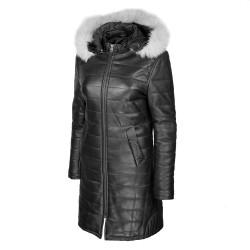 manteau-cuir-femme-noir-face-profil-capuche