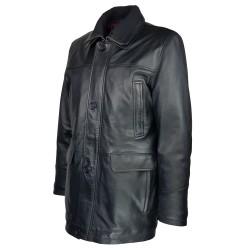 trois-quart-manteau-cuir-homme-agneau-noir-borsalino-col-amovible-deux tiers