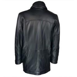 trois-quart-manteau-cuir-homme-agneau-noir-borsalino-col-amovible-dos