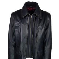 trois-quart-manteau-cuir-homme-agneau-noir-borsalino-col-amovible-plan