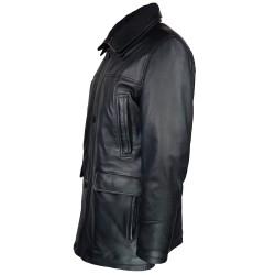 trois-quart-manteau-cuir-homme-agneau-noir-borsalino-col-amovible-profil