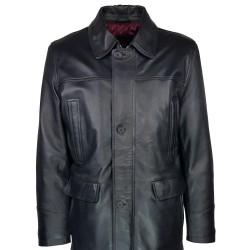 trois-quart-manteau-cuir-homme-agneau-noir-borsalino-col-amovible-second plan