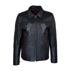 belmondo leather men's jacket