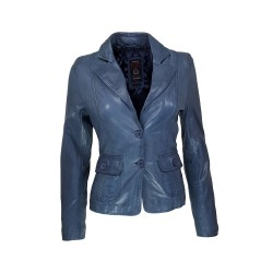 Teco leather women's jacket