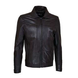 black lamdo leather men's...