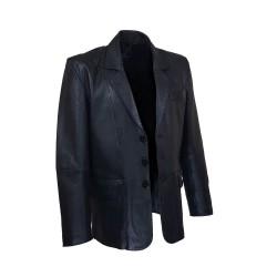 blazer homme cuir noir