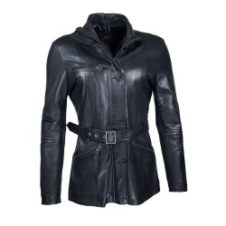 clyde leather woman jacket