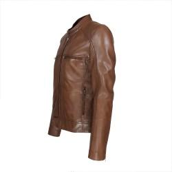 blouson homme cuir style motard palestra vue de profil