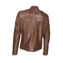 blouson homme cuir style motard palestra vue de dos