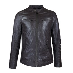 Blouson Tropicale Brown style motard mode Vue de Face